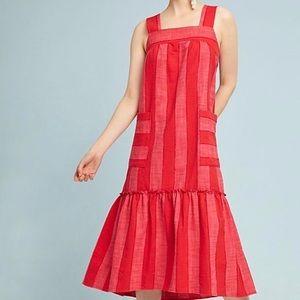 NWT Anthropologie Maeve Tonal Stripe Midi Dress